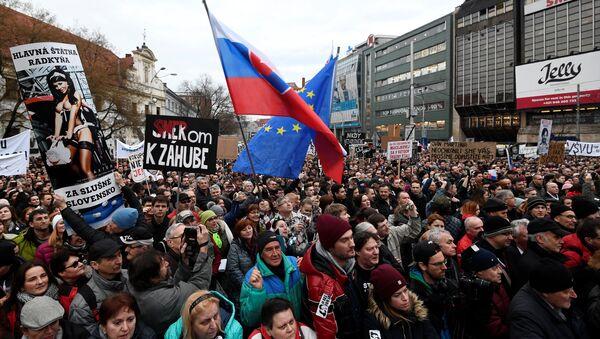Demonstracije u Bratislavi - Sputnik Srbija