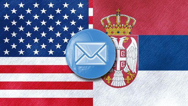 Заставе САД и Србије - илустрација - Sputnik Србија