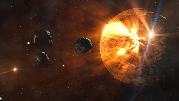 Метеори  - илустрација - Sputnik Србија