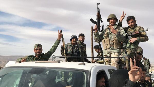 Sirijski vojnici u Istočnoj Guti - Sputnik Srbija