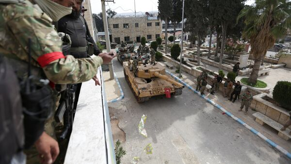 Јединице опозиционе Слободне сиријске армије и турска војска у Африну - Sputnik Србија