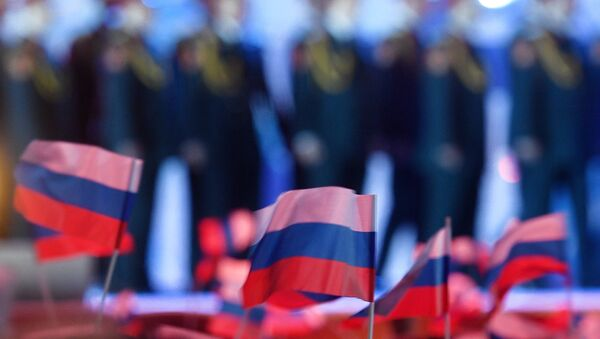 Заставе Русије на концерту у Криму - Sputnik Србија