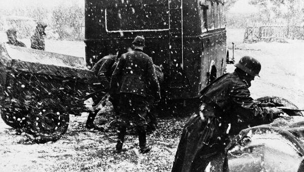 Nemačka vojska zaglavljena u snegu u Rusiji, 28. decembar 1942. - Sputnik Srbija