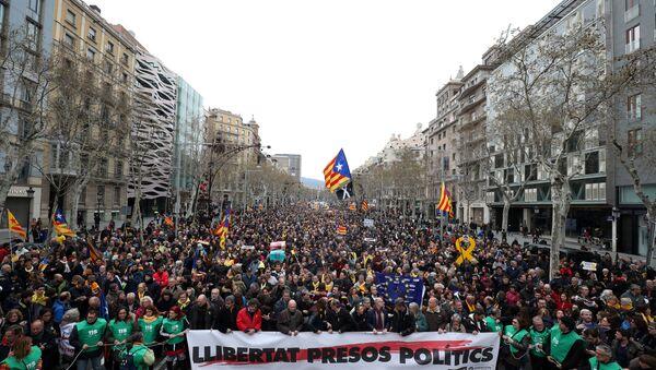 Protesti u Barseloni posle hapšenja Pudždemona - Sputnik Srbija