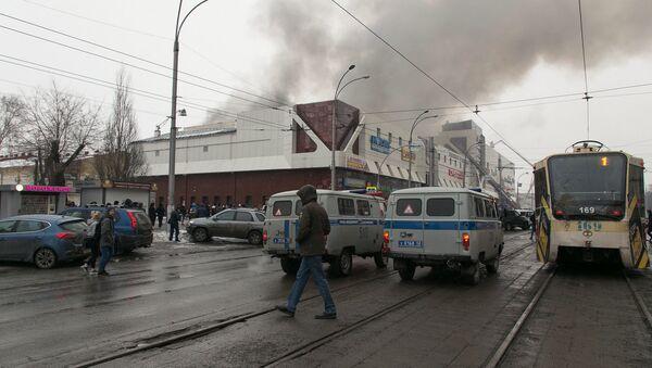 Požar u tržnom centru Zimska višnja u Kemerovu - Sputnik Srbija