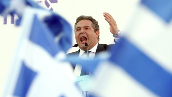 Министар одбране Грчке Панос Каменос - Sputnik Србија