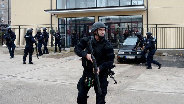 Policija tzv. Kosova u Kosovskoj Mitrovici - Sputnik Srbija