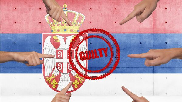 Србија кривац- илустрација - Sputnik Србија