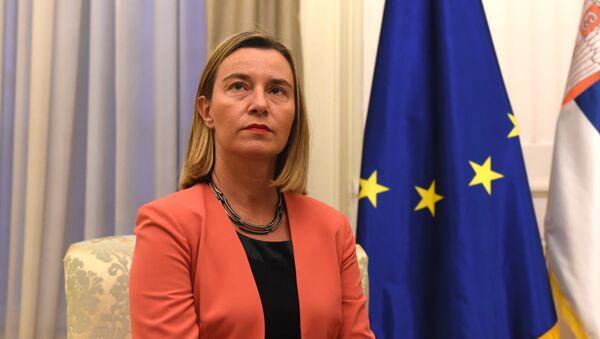 Visoka predstavnicom EU Federikom Mogerini - Sputnik Srbija