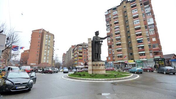 Trg u severnom delu Kosovske Mitrovice - Sputnik Srbija