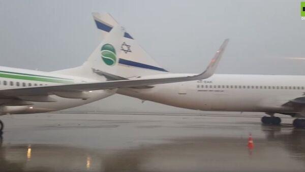 Судар немачког и израелског авиона на аеродрому у Тел Авиву - Sputnik Србија