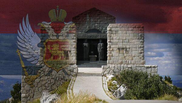 Zastava Kranjevine Crne Gore i Njegošev mauzolej - Sputnik Srbija