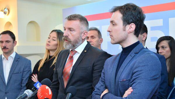 Počasni ruski konzul Boro Đukić i Marko Milačić - Sputnik Srbija