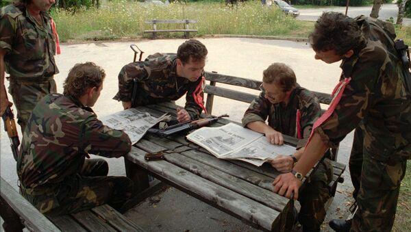 Хрватски војници током акције Олуја снимљени на Плитвичким језерима - Sputnik Србија