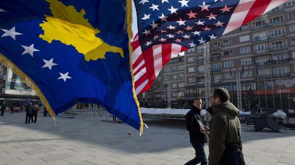 Приштина, заставе тзв. Косова и САД - Sputnik Србија
