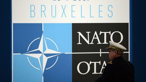Logo NATO-a na samitu u Briselu - Sputnik Srbija