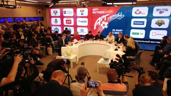 Žreb za reprezentacije u Art fubalu u Moskvi - Sputnik Srbija