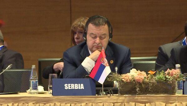 Minstar spoljnih poslova Srbije Ivica Dačić na Ministarskoj konferenciji Pokreta nesvrstanih zemalja u Bakuu, Azerbejdžan - Sputnik Srbija