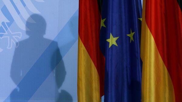 Senka nemačke kancelarke Angela Merkel - Sputnik Srbija