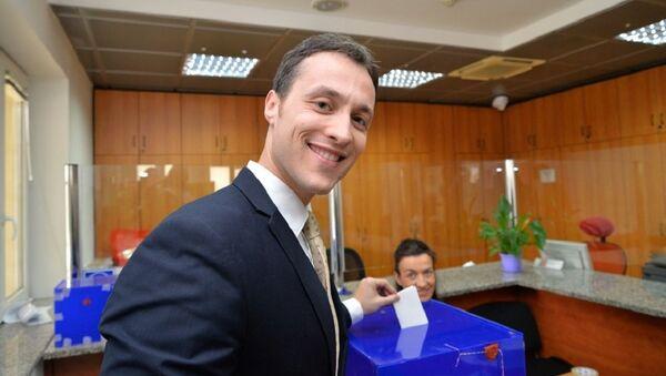 Марко Милачић гласа на председничким изборима - Sputnik Србија