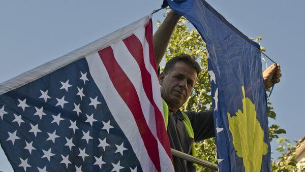 Zastave SAD i Kosova - Sputnik Srbija