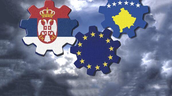 Србија, непризнато Косово и ЕУ - илустрација - Sputnik Србија