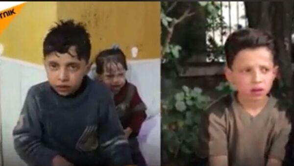 Dečak iz Sirije priča o režiranom hemijskom napadu u Dumi - Sputnik Srbija