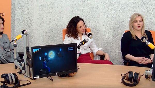 Glumice iz predstave Žensko srce u šinjelu - Sputnik Srbija