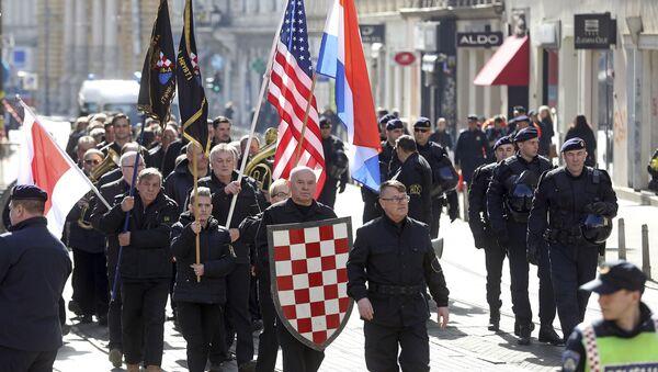 Ustaše marširaju centrom Zagreba - Sputnik Srbija