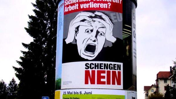 Anti-Šengen poster u Nemačkoj - Sputnik Srbija