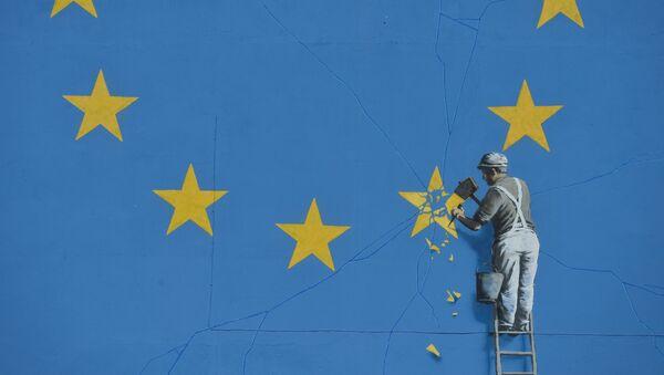 Бенксијеви графити са заставом ЕУ - Sputnik Србија