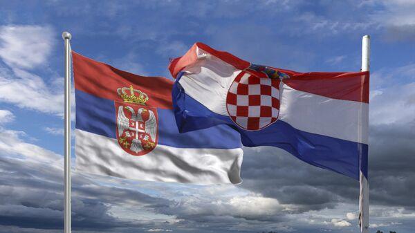 Србија Хрватска - заставе - Sputnik Србија