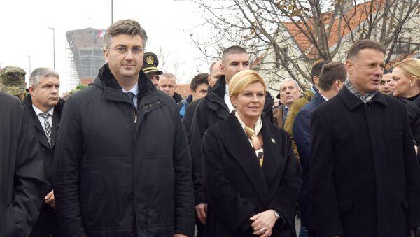Andrej Plenković i Kolinda Grabar Kitarović - Sputnik Srbija