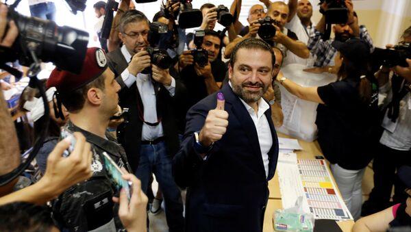 Premijer Saad Hariri glasa na izborima u Libanu - Sputnik Srbija