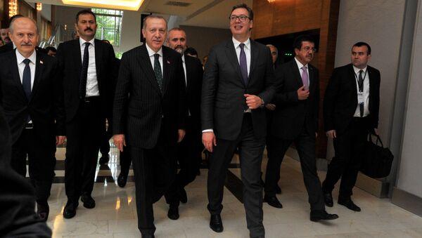 Vučić i Erdogan na Poslovnom forumu - Sputnik Srbija