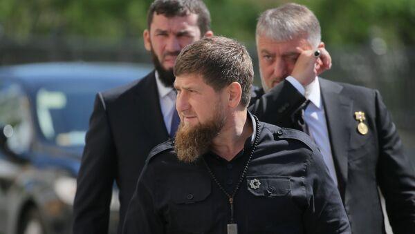Ramzan Kadirov na inauguraciji predsednika Rusije Vladirmir Putina. - Sputnik Srbija