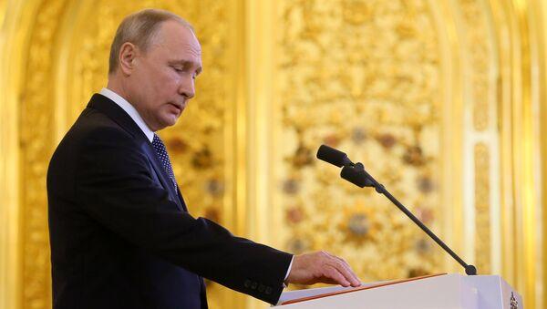 Predsednik Rusije Vladimir Putin u Kremlju - Sputnik Srbija