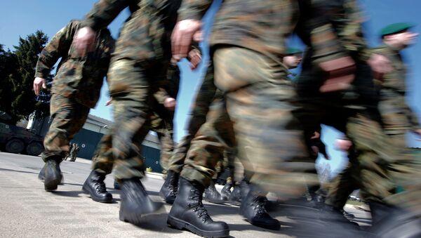 Pešadijski bataljon Oružanih snaga Nemačke u kasarni Marinberg - Sputnik Srbija