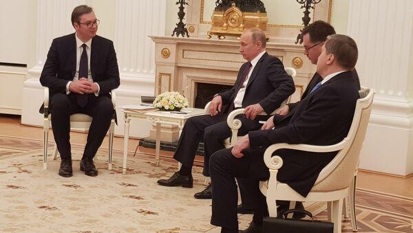 Aleksandar Vučić i Vladimir Putin. - Sputnik Srbija