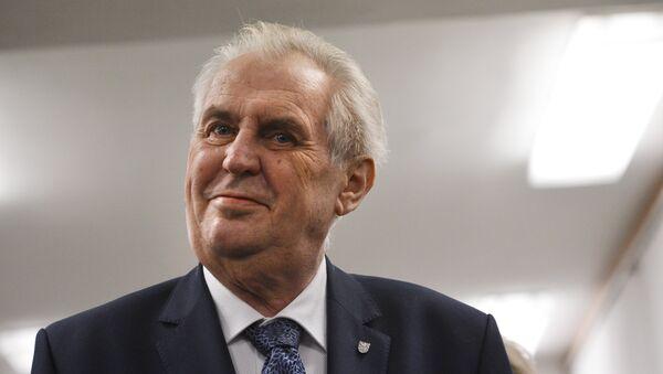Председник Чешке Милош Земан - Sputnik Србија