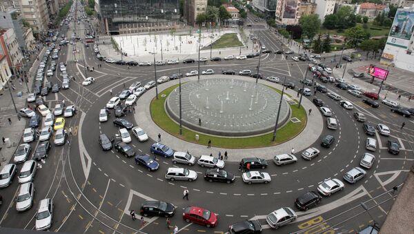 Трг Славија током протеста таксиста - Sputnik Србија