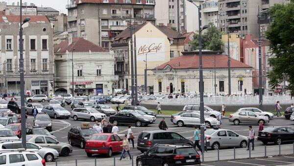 Štrajk taksista paralisao je centar Beograda i 10. maja 2018. godine - Sputnik Srbija