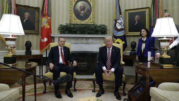 Председник САД Доналд Трамп и председник Турске Реџеп Тајип Ердоган - Sputnik Србија