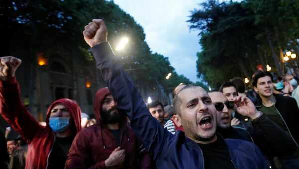 Učesnici protesta u Trbilisiju - Sputnik Srbija