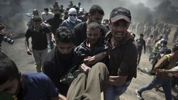 Veliki protest Palestinaca u Gazi - Sputnik Srbija