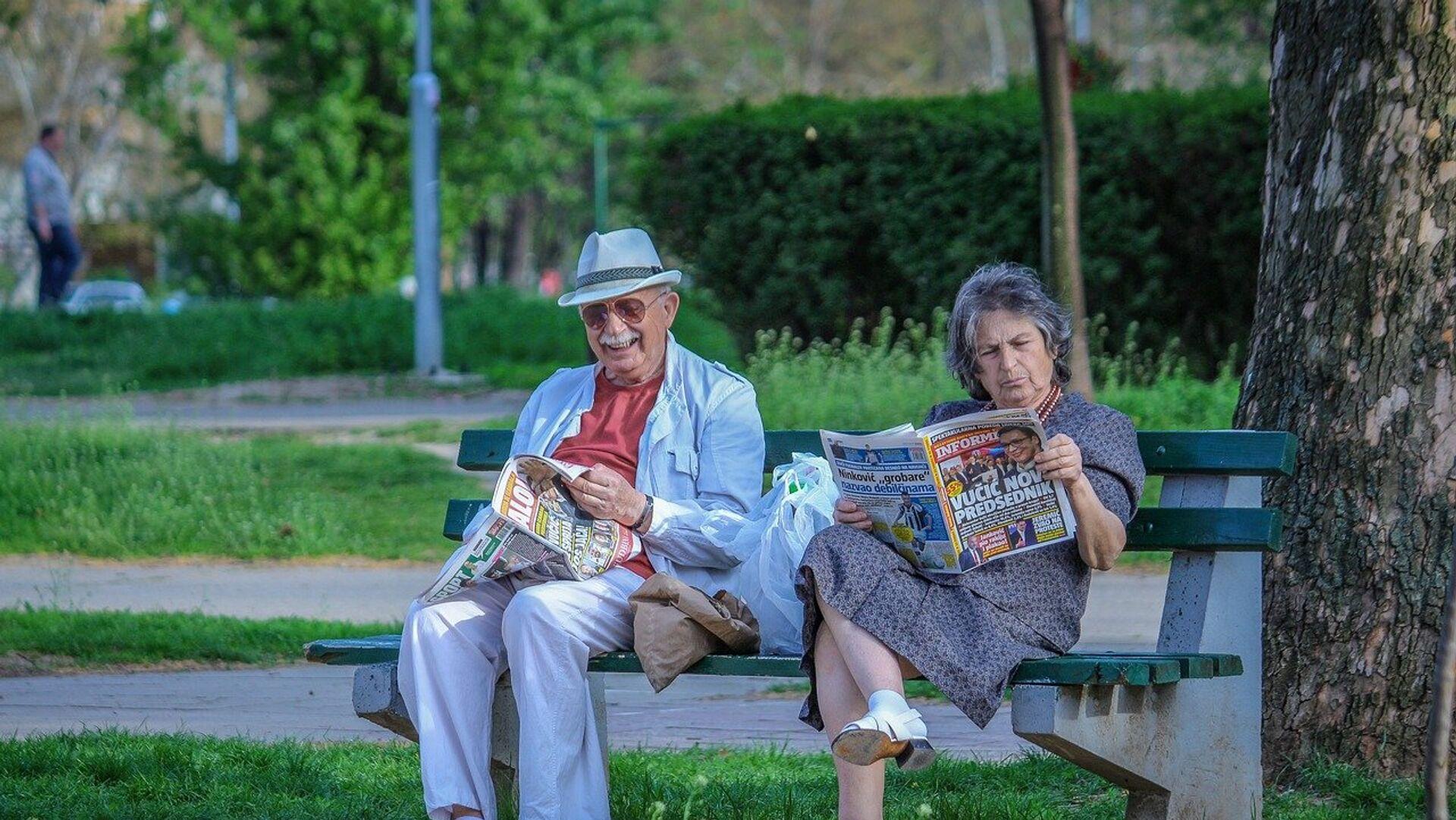 Пензионери у парку - Sputnik Србија, 1920, 25.07.2021