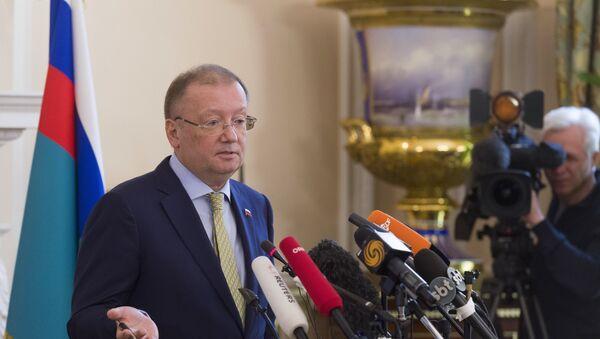 Ambasador Rusije u Velikoj Britaniji Aleksandar Jakovenko na konferenciji za medije u Londonu - Sputnik Srbija