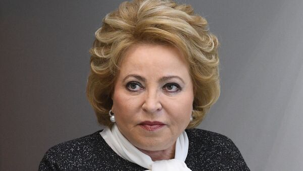 Председавајућа Савета Федерације Русије Валентина Матвијенко  - Sputnik Србија