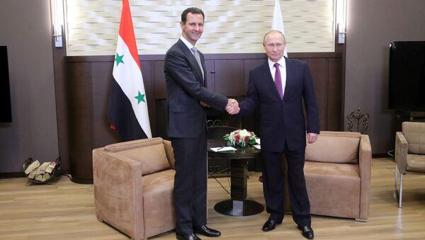 Predsednici Sirije i Rusije, Bašar Asad i Vladimir Putin - Sputnik Srbija