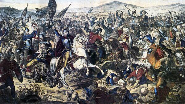 Ulje na platnu Kosovska bitka Adama Stefanovića iz 1870. godine - Sputnik Srbija